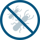 Crossed out termite graphic
