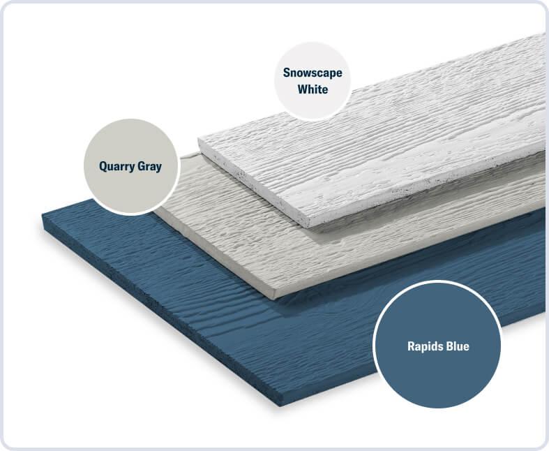 Rapids Blue + Quarry Gray + Snowscape White