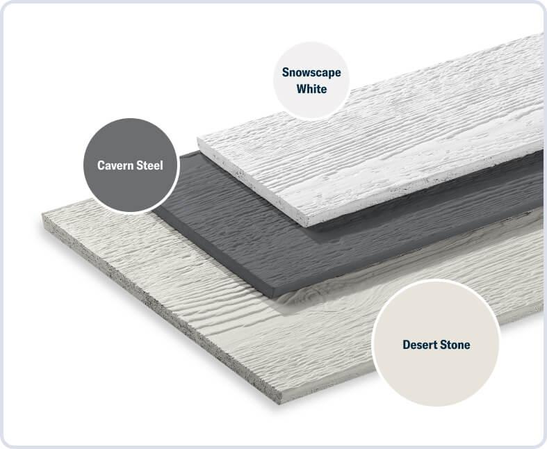 Desert Stone + Cavern Steel + Snowscape White
