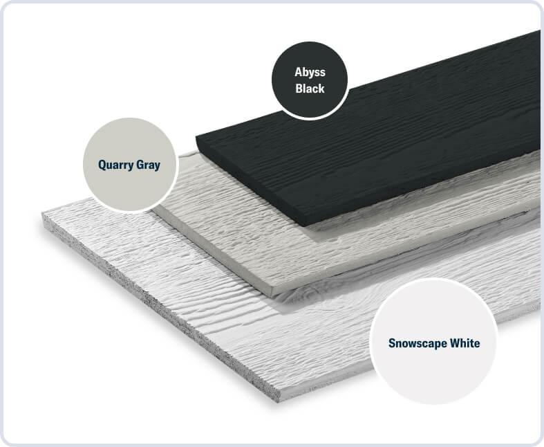 Snowscape White + Quarry Gray + Abyss Black