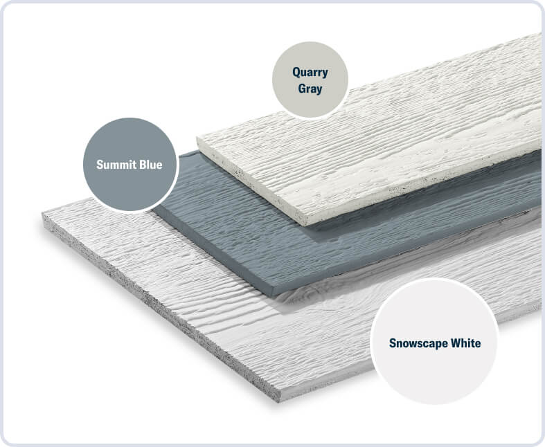 Snowscape White + Summit Blue + Quarry Gray