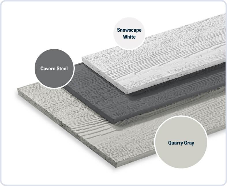 Quarry Gray + Cavern Steel + Snowscape White