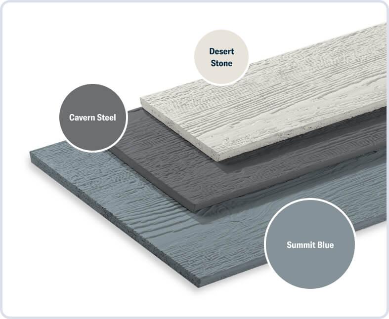 Summit Blue + Cavern Steel + Desert Stone