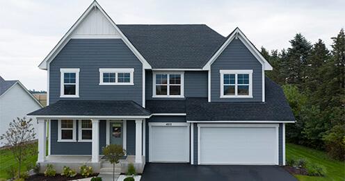 Blue grey house