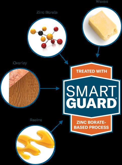 Infographic of SmartGuard wood