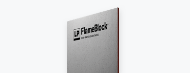 One sheet of FlameBlock fire-rated sheathing.