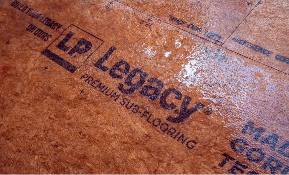 Close up shot of some wet Legacy panels.