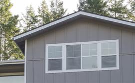 Smooth Panel Siding on a home